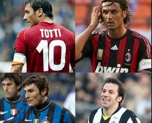 ملاقات مجازی ۴ اسطوره فوتبال ایتالیا +عکس