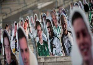 عکس/ حمایت هواداران تیم آلمانی با ماکت