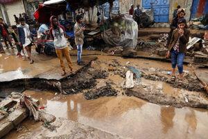 تصاویر جدید از خسارت سیل در یمن