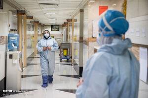 تلاش مدافعان سلامت در بیمارستان شهدای تجریش