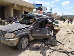 عکس/ حمله پهپادی اسرائیل به خودروی حزبالله