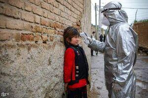 عکس/ هراس کودک از تبسنجی کرونا