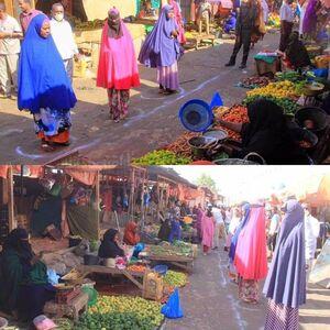رعایت فاصله گذاری اجتماعی در سومالی