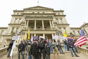 فیلم/ اعتراض مردم شیکاگو به محدودیتهای کرونایی