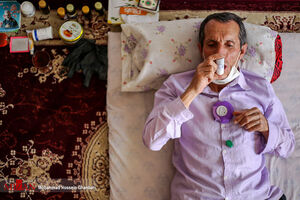 عکس/ 33 سال قرنطینه یک جانباز