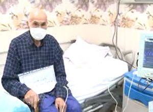 فیلم/ غلبه پیرمرد ۱۰۱ ساله کرجی بر کرونا