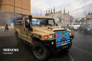عکس/ رژه خدمت در میدان شوش و راهآهن تهران