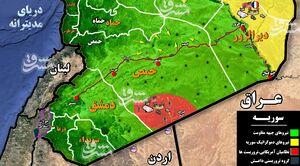 تحرکات هستههای مخفی داعش در مناطق مرکزی سوریه/ آیا تروریستها موفق به ناامنکردن میادین نفتی و گازی استان حمص میشوند؟ + نقشه میدانی و عکس