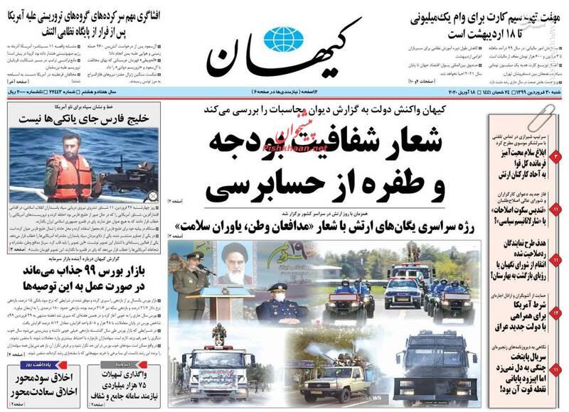 کیهان: شعار شفافیت بودجه و طفره از حسابرسی