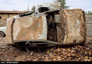 عکس/ خسارات سیل کرمان به خودروها