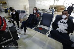 فاصله گذاری اجتماعی در فرودگاه مهرآباد