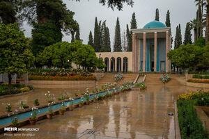 عکس/ نمایی متفاوت از آرامگاه سعدی