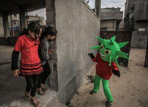 عکس/ ابتکار جالب معلم فلسطینی