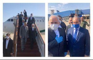 فیلم/ استقبال فیصل مقداد از ظریف در فرودگاه دمشق