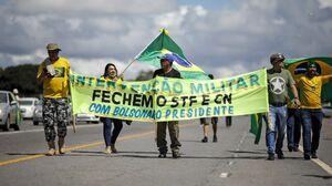 عکس/ تجمع ضد قرنطینه در برزیل