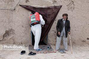 عکس/ ضدعفونی روستاهای اطراف مشهد