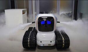 عکس/ ربات ضد عفونی کننده روسیه
