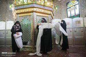 عکس/ قرارگاه جهادی در امامزادگان عبدالله