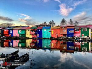 عکس/ خانههای رنگی بندر انزلی