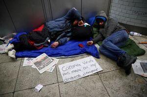 روسیاهی برای ملکه انگلیس بی خانمان کارتن خواب فقر
