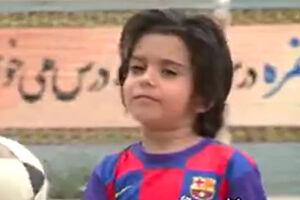 فیلم/ کودک ۴ ساله ایرانی در چالش ستارههای فوتبال