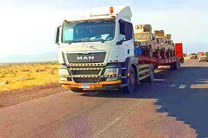 خودروهای زرهی و سلاحهای عربستان در راه عدن +عکس