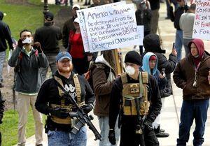 تظاهرات مسلحانه