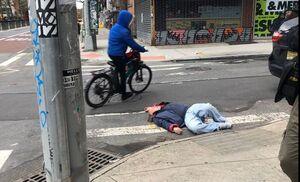 بیهوش شدن مرد مشکوک به کرونا در نیویورک