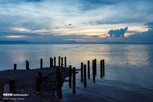 عکس/ دست طبیعت حامی احیا دریاچه ارومیه