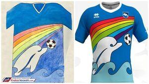 طرح یک پسربچه 6 ساله برای پیراهن تیم فوتبال +عکس