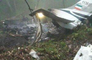 نخستین تصاویر سقوط هواپیمای آموزشی نیروی انتظامی