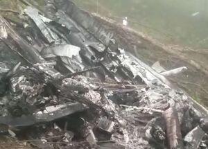 فیلم/ سقوط یک فروند هواپیمای آموزشی ناجا در مازندران