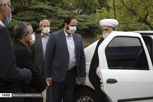 عکس/ ماشین تردد رئیس دفتر مقام معظم رهبری