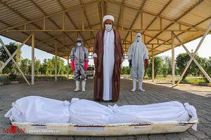 غسل و تدفین اموات کرونایی در آرامستان اهواز