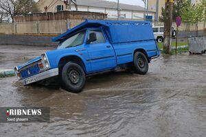 عکس/ آب گرفتگی معابر شهر اهر