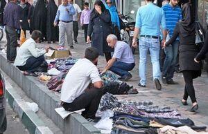 بساط دستفروشان در خیابانهای تهران پهن شد