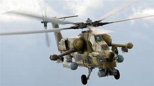 فیلم/ ۸ زخمی در فرود اضطراری بالگرد روسی