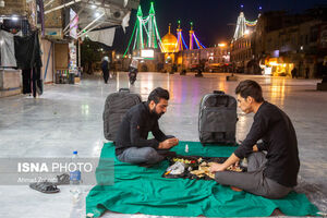 عکس/ افطار در نزدیکی حرم حضرت معصومه(س)