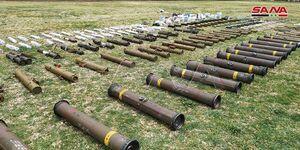 کشف انبار موشکهای پیشرفته امریکایی در استان درعا +عکس