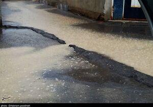تخریب بخشی از پل قدیمی طالقان بر اثر بارش شدید +فیلم