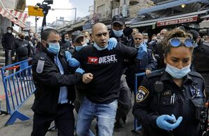 عکس/ تظاهرات هزاران نفر علیه نتانیاهو