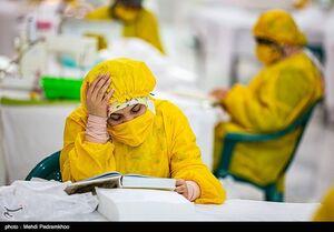 تولید ماسک در آستان علی ابن مهزیار اهوازی