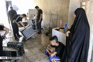 عکس/ تعمیر صلواتی کولر در ماه رمضان