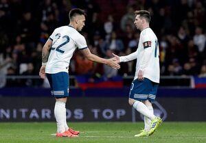 تماس مسی با بازیکن آرژانتینی اینترمیلان