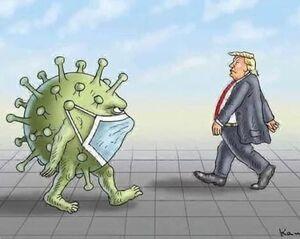 کرونا باید از ترامپ بترسد و احتیاط کند؟!