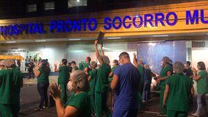 عکس/ اعتراض پرستاران در برزیل به کمبود تجهیزات