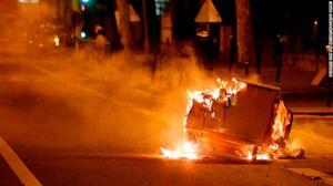 فیلم/ اعتراضهای شبانه به پاریس رسید