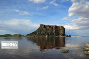 عکس/ بالا آمدن سطح آب دریاچه ارومیه