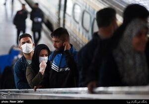 راه آهن تهران در روزهای شیوع کرونا