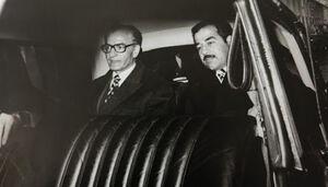 فیلم/ روبوسی شاه پهلوی و صدام!